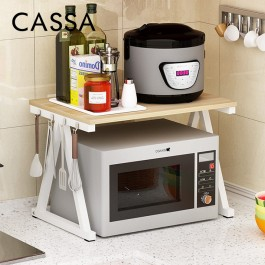 [Ready Stock] Cassa Micro TIGA 2Tiers Microwave Oven Rice Cooker Rack Kitchen Dapur shelf Organizer Storage