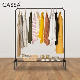 Cassa Tano 110cm Open Closet Wardrobe Clothes Rack Clothes Hanging Floor Folding Clothes Portable Flexible Indoor Outdoor Use1 Bar/ 2 Bar Single Pole/Double Pole hanger drying cloth bedroom storage hanger