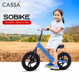 Cassa SOBIKE Kids Balance Bike 12 inch Wheel Roller Push Bike No Pedal Bike Ride with Height Adjustable Seat Pad