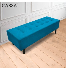 Cassa VIVA [ Royal Classical Designed - BIGGER DEPTH SIZE ] 4 Feet Long Stool Bench Chair Fabric Sofa Ottoman Living Room Bedroom Cafe Kerusi (Blue / Red / Grey / Green )