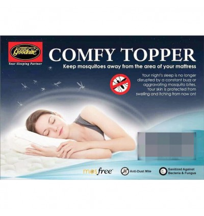 Goodnite Mosfree Anti Mosquito Knitted Fabric Comfy Single / Super Single /Queen / King Mattress Topper (Pad Tilam)