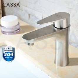 CASSA STAINLESS STEEL SUS304 BATHROOM FAUCET PILLAR SINK BASIN WATER TAP