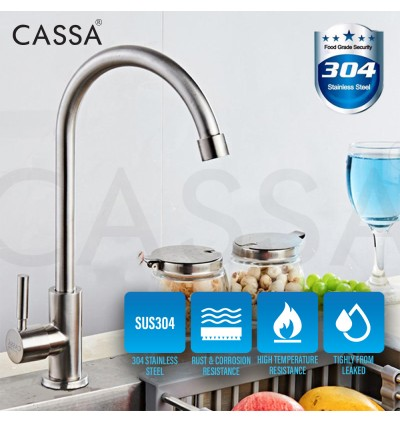 IF Stainless Steel SUS 304 Kitchen Faucet Wall Deck Sink Tap