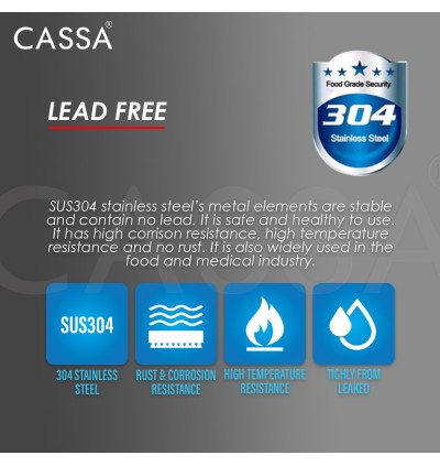 Cassa SUS 304 Stainless Steel Braided Flexible Connector Hose