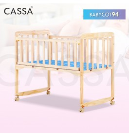 Cassa Cradle Baby Cot Baby Swing Rocking Bed Natural Solid Wooden (93X54CM)