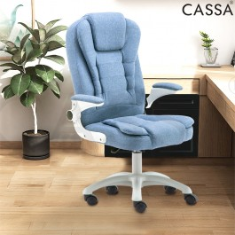 [NEW-Handle Adjustable] Cassa Myvi Pu Leather Ergonomic Height Adjustable Swivel Office Chair With Padded High Backrest (Without Foot Rest)