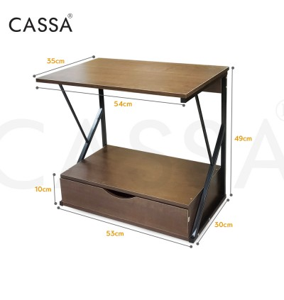 Cassa 2 Layer/ 3 Layer Zigwave Drawave Heavy Duty Thicker Steel Microwave Oven Rice Cooker Rack Kitchen Dapur shelf Organizer Storage (WIth Drawer / Without Drawer)