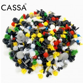 Cassa 500pcs Universal Hybrid Automotive Plastic Car Bumper Clip Car Fastener Rivet All Car Door Fence