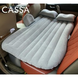 Cassa Car Inflatable Mattress Bed Outdoor Camping Air Bed Mattress + 2 Pillows + 12V Air Pump (Myvi, Saga, Waja, Persona, Exora, Alza, Axia, Bezza, City, Civic, Accord, Jazz, Vios, Camry, Altis, Vellfire, Livina, Sylphy, Latio etc) GREY
