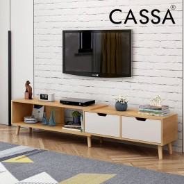Cassa Wayne Extendable 6 Feet TV Cabinet  Entertaiment Unit Scandinavian-inspired
