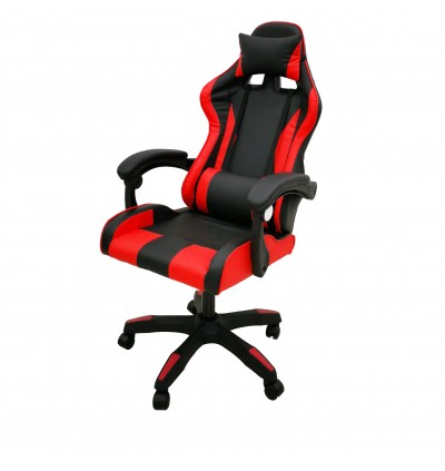 Cassa Back Ergonomic Racing Style Adjustable Gaming Executive Office Chair Black Red (Without Leg Rest/With Leg Rest)