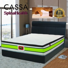 Cassa Goodnite Spinahealth Queen Posture Spring 11 Inches Compact Plus High Comfortability Linen Mattress Topper ideluxe