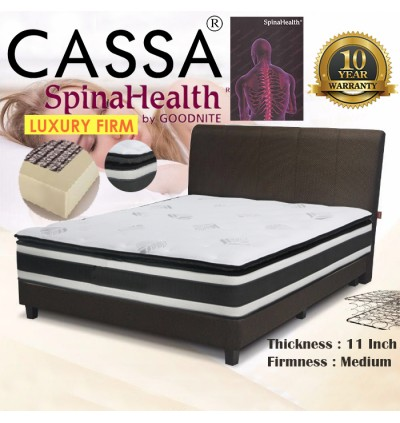 Cassa Goodnite FIRST LOVE CINTA PERTAMA Spinahealth LUXURY FIRM Plush Top +Edge Support System 11 Inches Queen Posture Spring Mattress Only