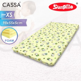 Cassa Sofy 2 Inches Thick Foam Baby Mattress (98X55) Suitable to 100x60 cm Baby Cot