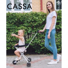 Cassa Portable Ultra Lightweight Foldable Tricycle Stroller for Kids