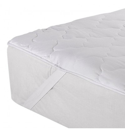 Cassa Hoyta Quilted Single Mattress Topper Machine Washable Mattress Quilted Protector (Four flexible strips at corner) Fitted Bedding Sheet