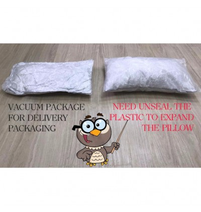 Buy 1 Free 1 Casa Dreamy Polyester Soft Feel Pillow 42x70x12CM With High Quality Smooth Soft Florish pattern Fabric White Grey