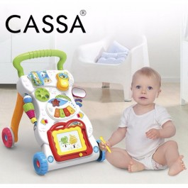 Cassa Happy 4 in 1 Children Music Walker Baby Learn Walk Stand Trolley Toys