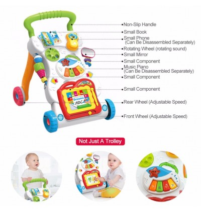 Cassa Happy 4 In 1 Children Music Walker Baby Learn Walk