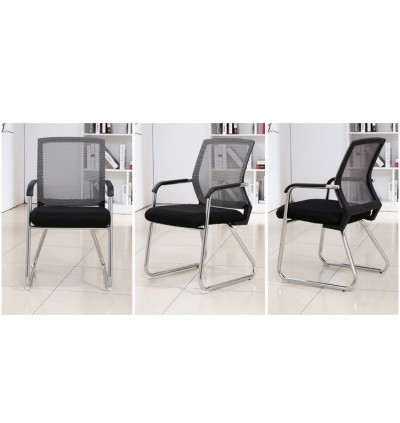 [SPECIAL LIMITED OFFER] Cassa Office Side Chair Visitor Chair Normad with Grey Mesh Back