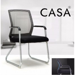 Casa Office Side Chair Visitor Chair Normad with Grey Mesh Back