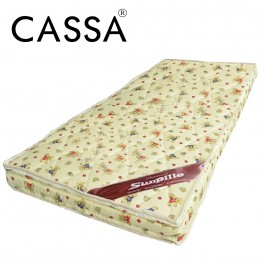 [3 Years Warranty] Cassa Sunpillo 4 Inches Thick High Density Rubber Foam Baby Mattress (S size-98X55cm)/(M size-115X60cm)/(L size-120X60cm)