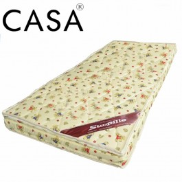 Casa Sunpillo High Density 4 Inches Thick Rubber foam Baby Mattress (98X55)