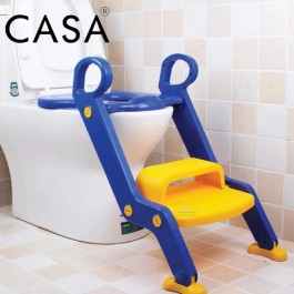 Cassa Foldable Kid Baby Toilet Seat Trainer with Ladder
