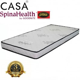 Advanced Level Super Firm SpinaHealth 5 Inch Single Ifoam mattress Only (3 year warranties)