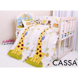 Cassa Baby Cot Wooden Cradle Rocking (Natural)with Baby Cot Bumper+Baby Mattress Set+Mosquito net