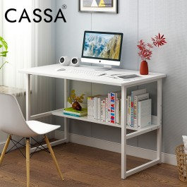 Cassa Simple Computer Desk PC Laptop Table Workstation Study Home Office Furniture (white)