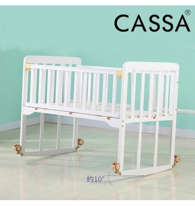 Cassa Cradle Baby Cot Bed Natural Wooden Rocking Natural