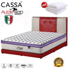 Cassa Australian Brand Great Back Support and Comfortability Aussie Sleep Italia Sunno Etoms 10.5 Chiropractic Queen/King Spring Mattress with 3 Plush-Top (12 Years Warranty) Free 1 unit Queen Mattress Topper Protector""""