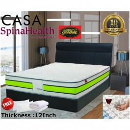 Goodnite Queen 12 inch thick Pocketed Spring Deluxe Mattress 10 year Warranty