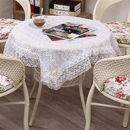 France Style White Lace Tablecloth