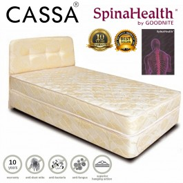 10 Years Warranty Cassa Super Single/Single 3.5' thick 8 Posture Spring Mattress only