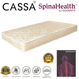 [10 Years Warranty] Cassa Spinahealth By Goodnite 8 Inches Posture Spring Single Mattress only