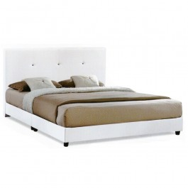 Cassa Heavy Duty Nice Beige White Queen Divan Bed Frame Only - Wood Structure