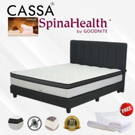 """Spinalhealth Thick 10"""" Posture Spring Queen/King Mattress Only With Free 2 PIllows+ Bolster+ Mattress Protector (10 Year Warranty) Idream"""