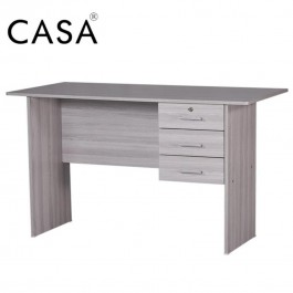 Cassa Writing Table 4ft With 3 Drawer (Grey)