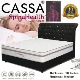 "Goodnite Spinahealth [Limited Edition Royal Grandeur] Vitania 10""Posture Spring Queen/King Mattress Only (10 Years Warranty)"