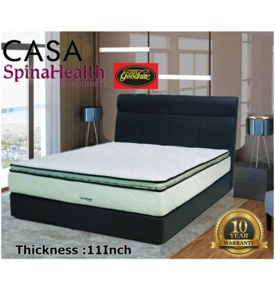 Goodnite 11  Plush Top King/Queen Double Posture Spring Mattress Only 10 year warranty Iplush