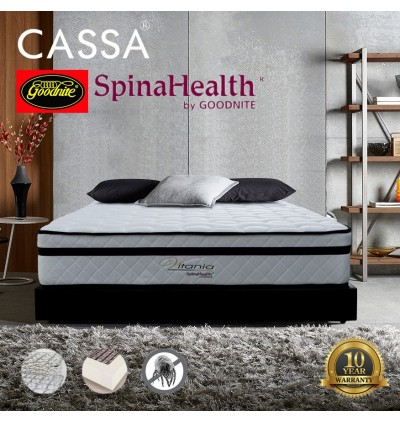 Goodnite Spinahealth [ Limited Edition Royal Grandeur ] 10 inch Posture Spring King Mattress Only