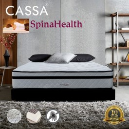 Cassa Spinahealth Sleep Essential 10 inch Posture Spring King Mattress Only (10 Years Warranty)