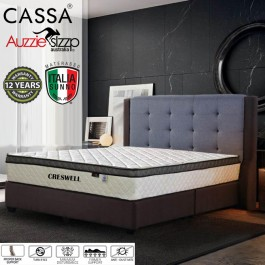 Aussie Sleep Italia Sunno Cresswell (Export Edition)Chiropractic Queen Spring Mattress (3 top Plush-Top)(4D Air)(12 Years Warranty)