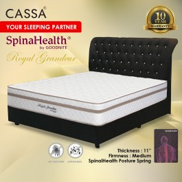 """Cassa Goodnite Royal Grandeur Luxury Firm 11"""" Single/Super Single/Queen/King Spinahealth Posture Spring mattress only"""