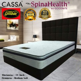Cassa Goodnite Spinahealth Sleep Essential 10 inch Posture Spring Queen/King Mattress Only (10 Years Warranty)