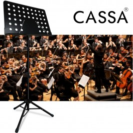Cassa Luno Heavy Duty Music Stand for Orchestra, Conductor, Violin, Keyboard, Guitar, Ukulele & Food Menu (High Quality)