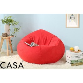 Cassa Super Size Bean Bag Sofa 2.1 kg Red (Washable Fabric - Easy Care Durable)