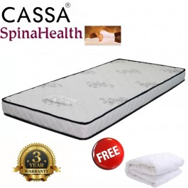 Advanced Level Super Fir SpinaHealth 5 Inch Single Ifoam mattress Only Free Protector (3 year warranties)